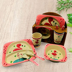 Exclusive Bamboo Fiber Eco-Friendly Kids Feeding Set to Ahmedgarh