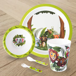 Amusing Jungle Book Design Melamine Kids Set to Akurdi