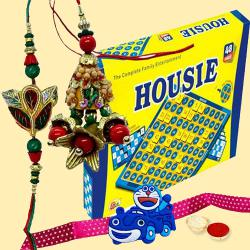 Incomparable Housie Deluxe Family Board Game with Chocolates to Nakoda