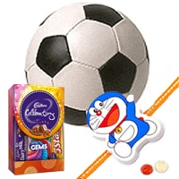 COSCO Football with Rakhi and Roli Tilak Chawal to India