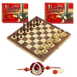 Chess with Rakhi with Nutties and Roli Tilak Chawal to Cochin