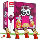 Effervescent Funskool Game of Go with 4 Chota Bheem Rakhi and Roli Tilak Chawal to Cochin