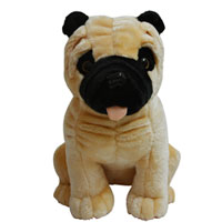 Brown Bulldog Puppy Soft Toy to Berhampur