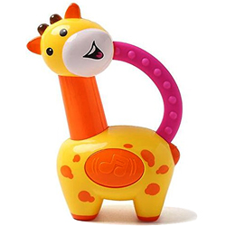 Attractive Fisher-Price Brand Giraffe Clacker Rattle for Toddlers to Bantwal