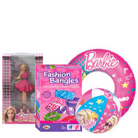 Smashing Gift Pack of Barbies for Baby Girl to Amritsar