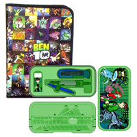 Stylish Combo of Ben 10 Zipper File Pack and Geometry Box to Bantwal
