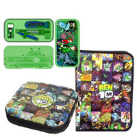 Exclusive Gift Hamper of Ben 10 Zipper File Pack with CD Cover and Geometry Box to Baraut