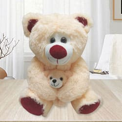 Exclusive Teddy Bear with Baby to Berhampur