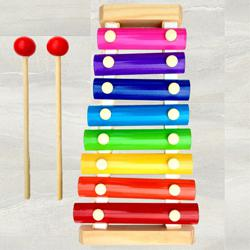 Marvelous Wooden Xylophone Musical Toy for Children to Adra