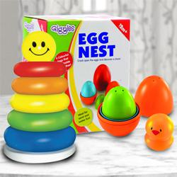 Exclusive Toy Set of Nesting Eggs N Stacking Ring for Kids to Akurdi