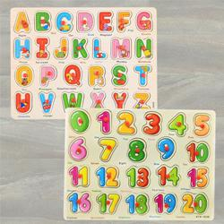Marvelous Set of 2 Wooden Learning Board for Kids to Allahabad