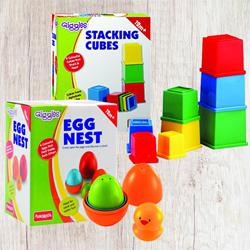 Remarkable Funskool Giggles Nesting Eggs N Stacking Cubes	 to Aligarh