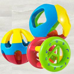 Exclusive Set of 3 pcs Shake and Grab Rattle Ball for Kids to Akola