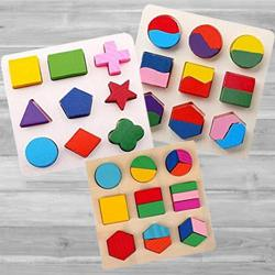 Marvelous Geometry Matching Puzzles 3 Board Set to Adra