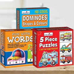 Marvelous Triple Learning Puzzle Set for Kids to Adra
