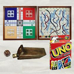 Marvelous Ludo, Magnetic Snakes N Ladders with Mattel Uno Game to Alapuzha