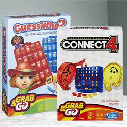 Marvelous Connect 4 N Guess Who Game from Hasbro to Adra