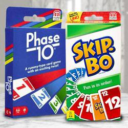 Marvelous Mattel Skip Bo N Phase 10 Card Game to Adugodi