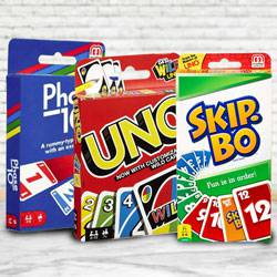 Marvelous Mattel Uno, Skip Bo N Phase 10 Card Game to Akurdi