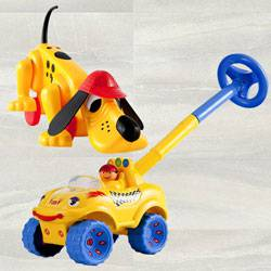 Marvelous Funskool Digger the Dog and Walk N Drive Truck to Ajmer