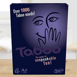 Exclusive Hasbro Gaming Taboo Board Game to Adra