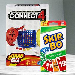 Marvelous Hasbro Connect 4 Grab and Go N Mattel Skip Bo Card Game to Adugodi