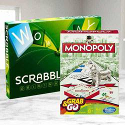Marvelous Mattel Scrabble Board N Monopoly Grab N Go Game to Aluva