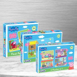 Marvelous Trio Peppa Pig Puzzles Set for Kids to Alapuzha