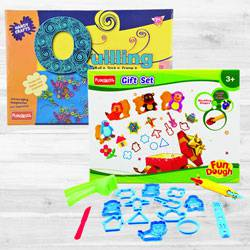 Wonderful Funskool Quilling Art N Fundough Gift Set to Adra