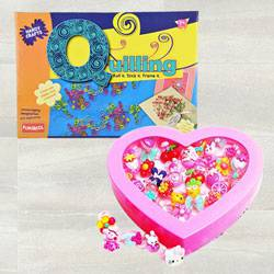 Wonderful Funskool Quilling Art with Kids Fancy Cartoon Rings to Adoni