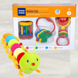 Marvelous Luvlap Fish Teether Rattles N Caterpillar Soft Toy to Akurdi