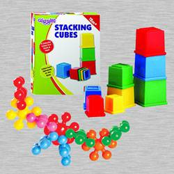 Amazing Funskool Kiddy Star Links n Giggles Stacking Cubes to Agroli