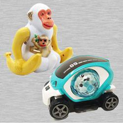 Marvelous Webby Funny Orangutan N 360 Degree Rotating Stunt Car to Akola