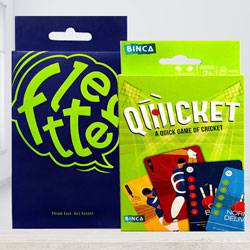 Marvelous Binca Qwicket Cricket N Fletter Card Game to Abohar