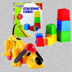 Marvelous Funskool Digger The Dog N Giggles Stacking Cubes	 to Adra