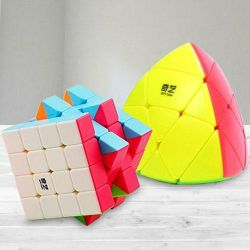 Remarkable Stickerless High Speed Cube N Pyramid Puzzle to Ajmer