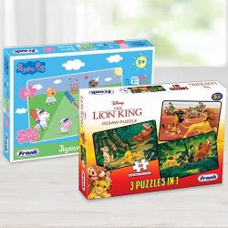 Marvelous Frank Disney The Lion King N Peppa Pig Puzzles Set to Adra