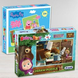 Wonderful Frank Peppa Pig N Masha and The Bear Puzzle Set to Abohar