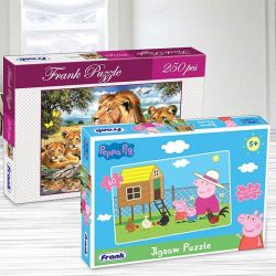 Amazing Frank Peppa Pig N Lion Family Puzzle Set to Abohar