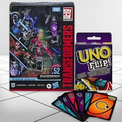Marvelous Transformers Action Figure N Mattel Uno Flip Side Game to Aizwal