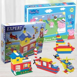 Exclusive Building Blocks N Frank Peppa Pig Lets Go Play Cricket Puzzle to Akurdi