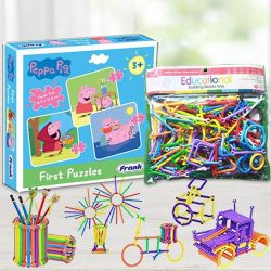 Marvelous Educational Building Blocks N Frank Peppa Pig Puzzle Set to Ajmer