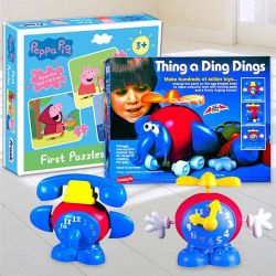 Marvelous Funskool Thing a Ding Dings N Frank Peppa Pig Puzzle Set to Adra