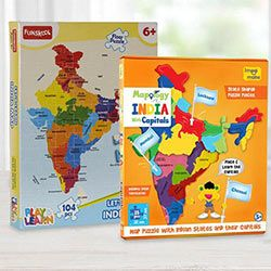 Marvelous Educational Map N Funskool India Map Puzzle Set to Aluva