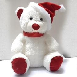 Marvelous Teddy with Red Santa Claus Cap to Jamshedpur