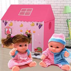 Fabulous My Tent House for Girls with a Playful Doll Set to Aizwal