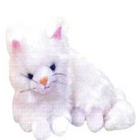 Real Looking Plush  Lying Kitty to Bamra