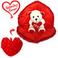 Love Bear in Heart Shaped Pillow (8 inches) to Gurgaon