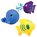 Nuby-Fish Bath Squirters 3 pcs. to Bangalore