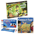 Indoor Game Special Connect 4 , 60 pcs set of Ben 10 Puzzle Game , Mastermind Hamper to Varanasi